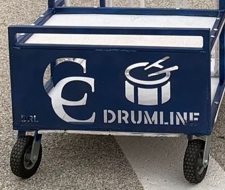 Freshman Student Builds Cart for Drumline and Hornline