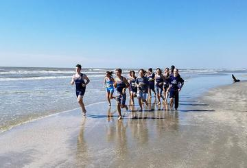 High School Cross Country Races on the Beach in Galveston