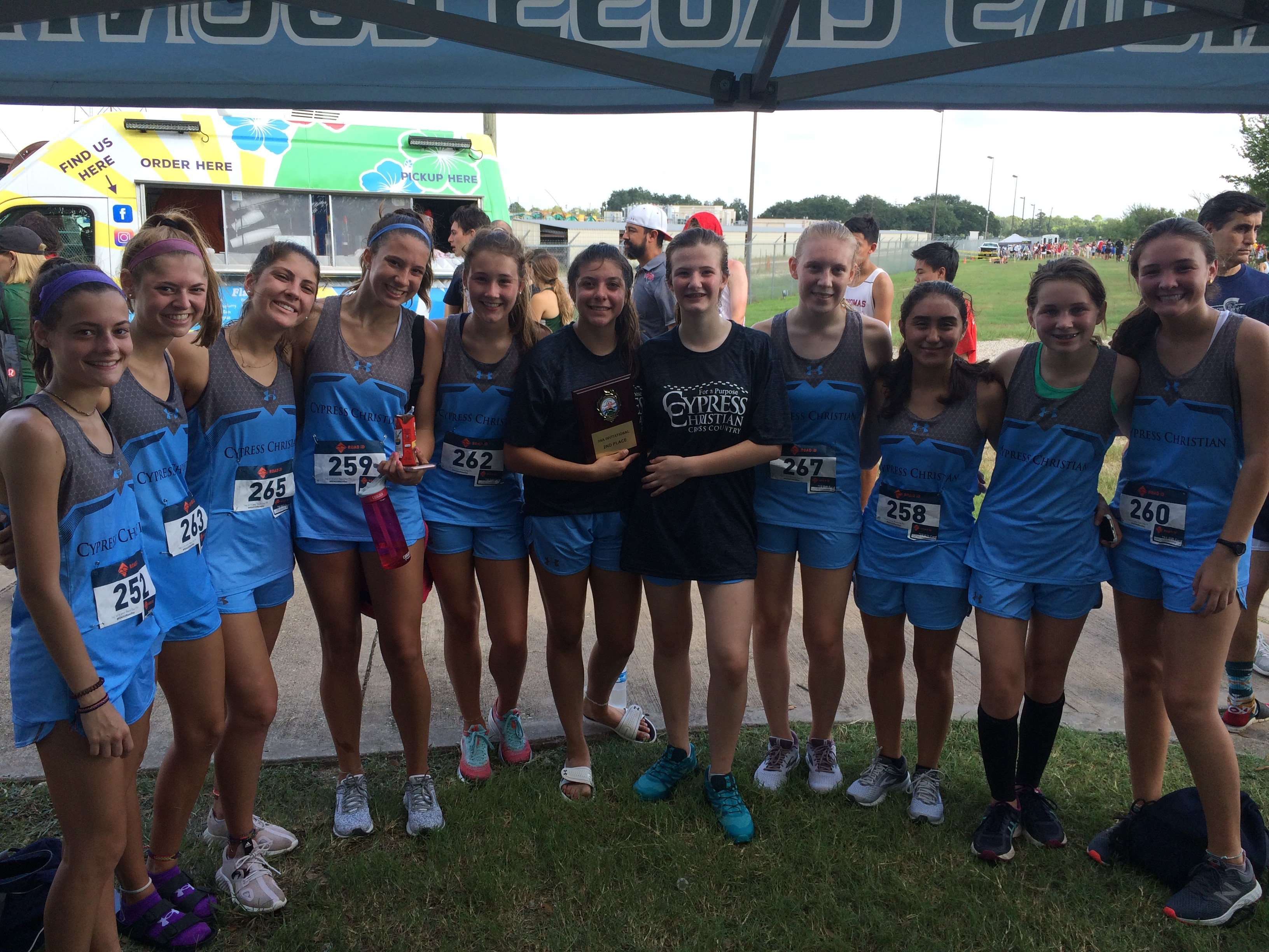 Cross Country JV Girls Finish Second in First Race of the Season