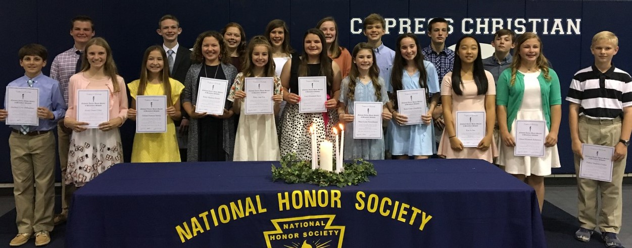 NJHS Inducts New Members and Elects Officers for the 2018-2019 School Year