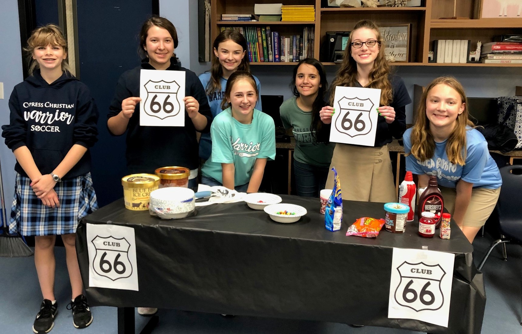 Seventh-Grade Girls Join the 66 Club