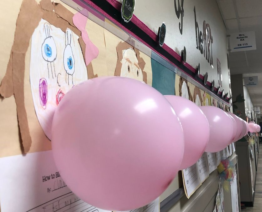 Kindergarten Bubble Gum Writing