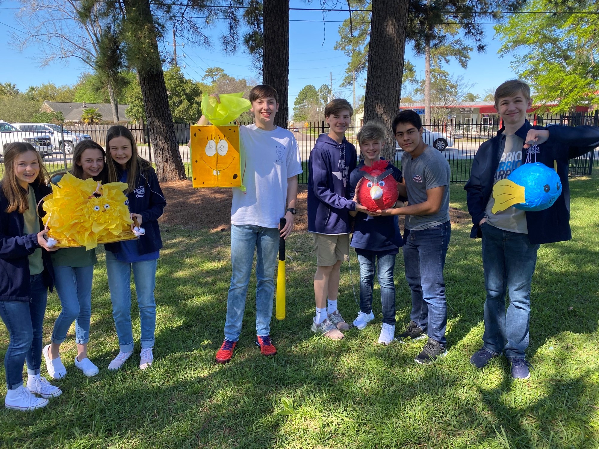 Spanish Students Celebrate with Pinatas