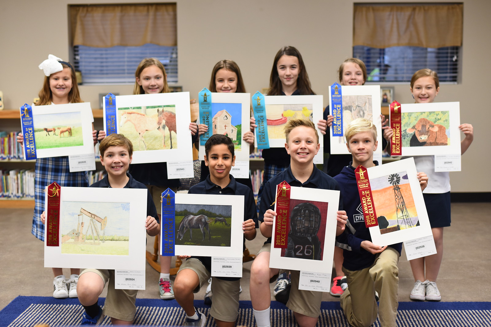 Houston Livestock Show & Rodeo Art Contest Winners - Elementary