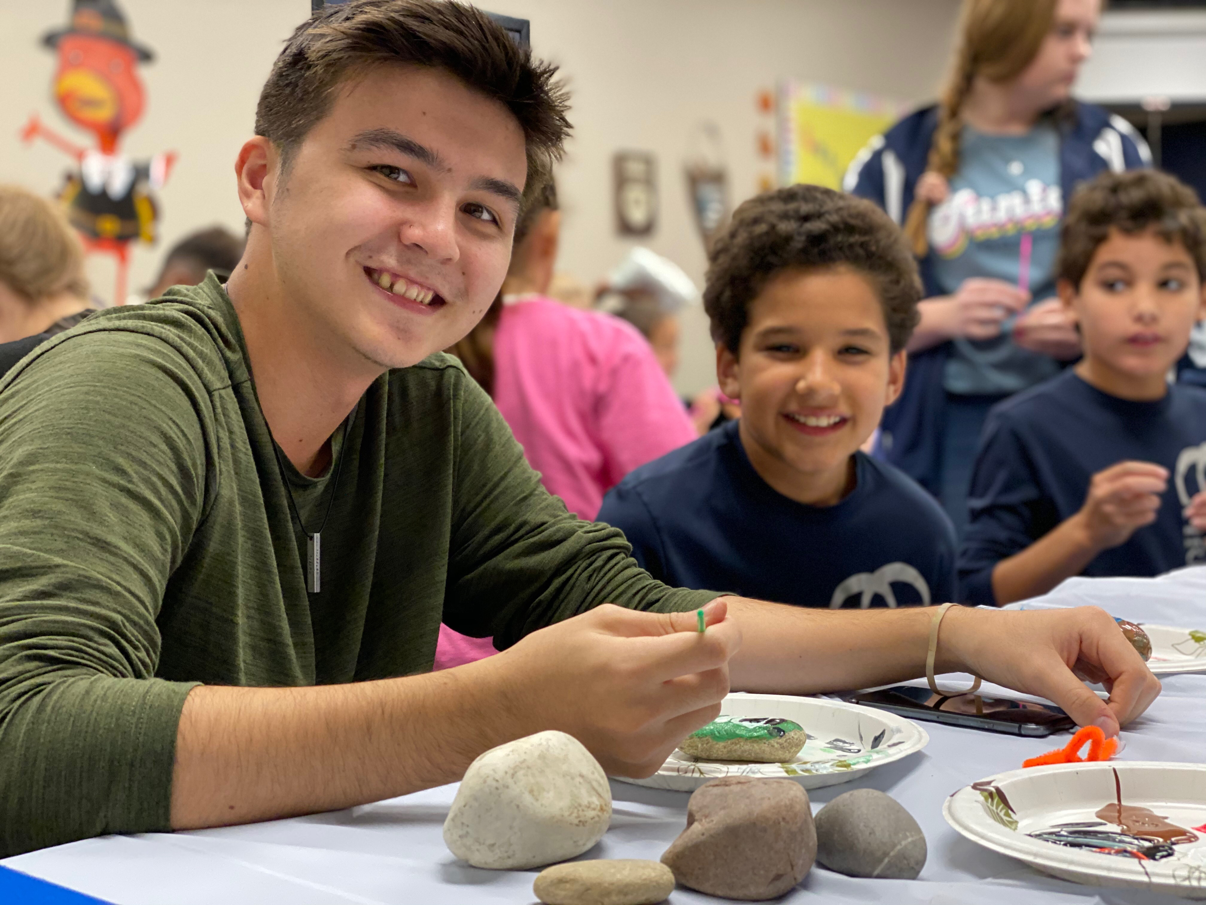 NAHS Leads After-School Art Activity