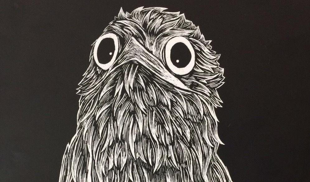 Middle School Scratchboard Art