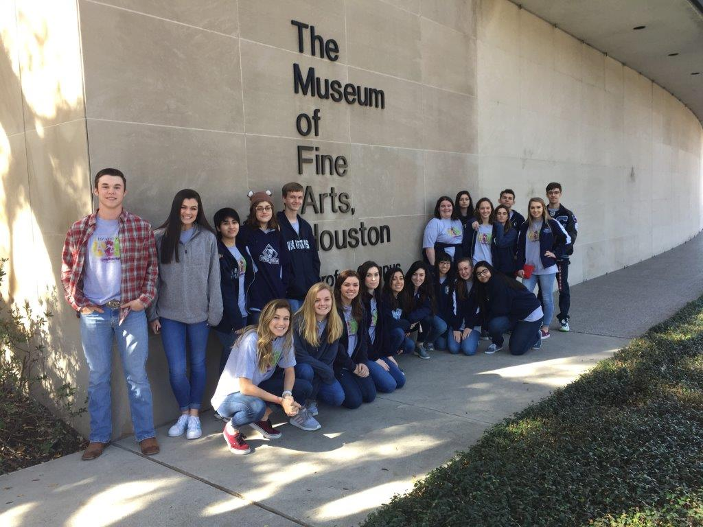 National Art Honor Society Visits Museum of Fine Arts Houston