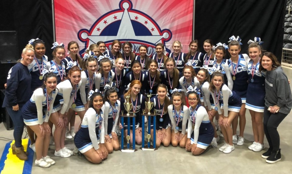 Varsity & MS Cheer are FCC Cheer Champions