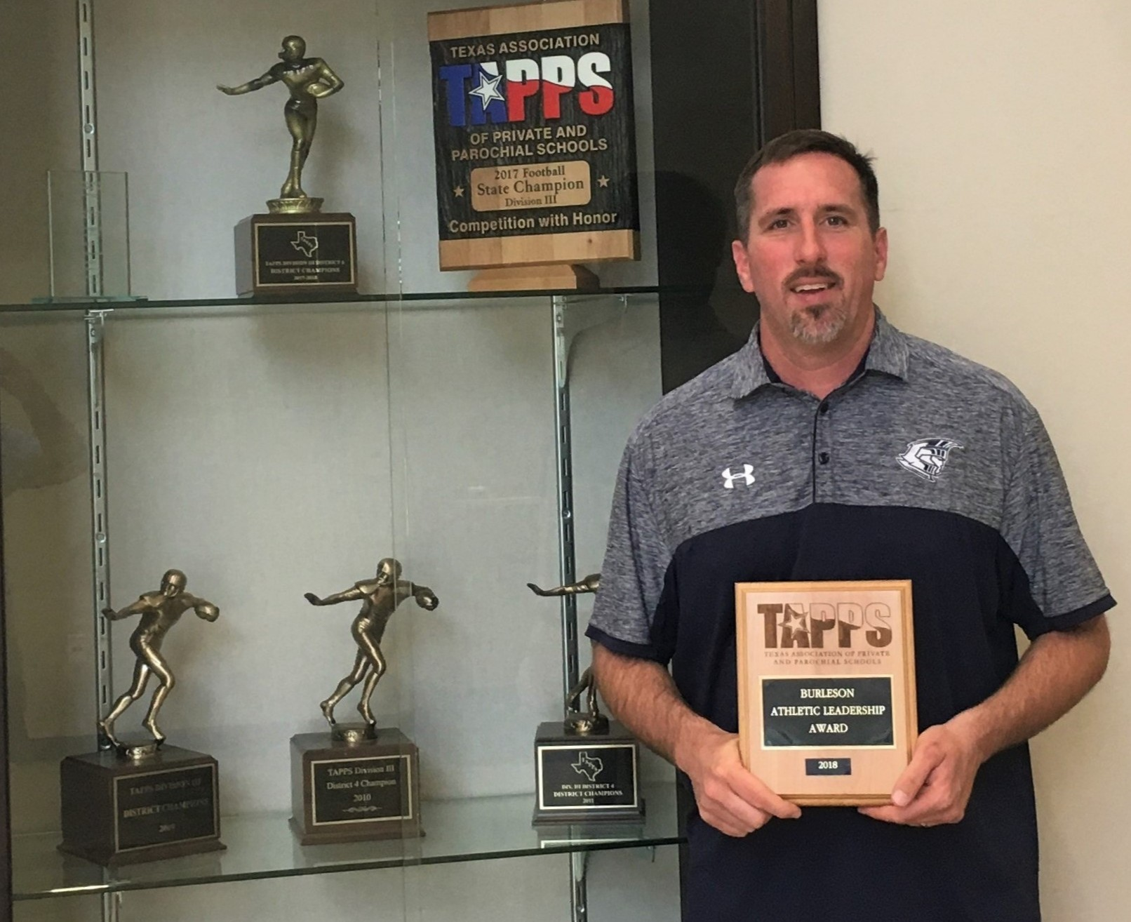 Coach Spenn Named TAPPS Coach of the Year