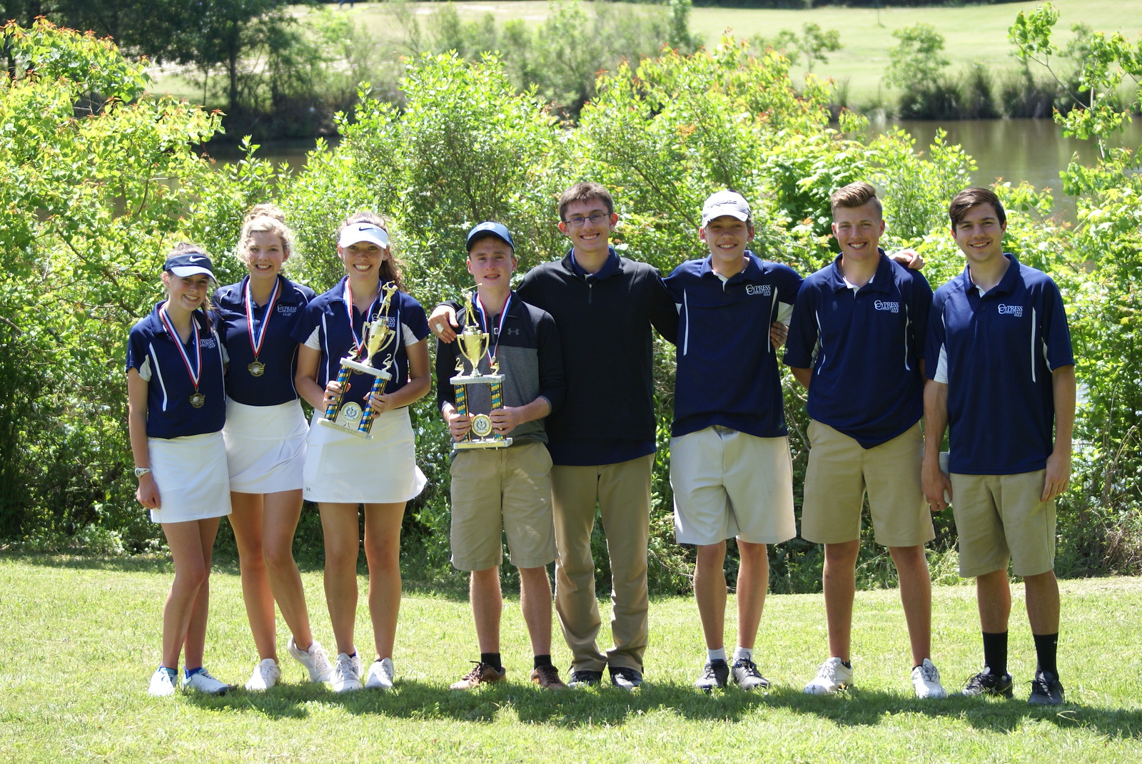 Golf Team Places Second in District Tournament