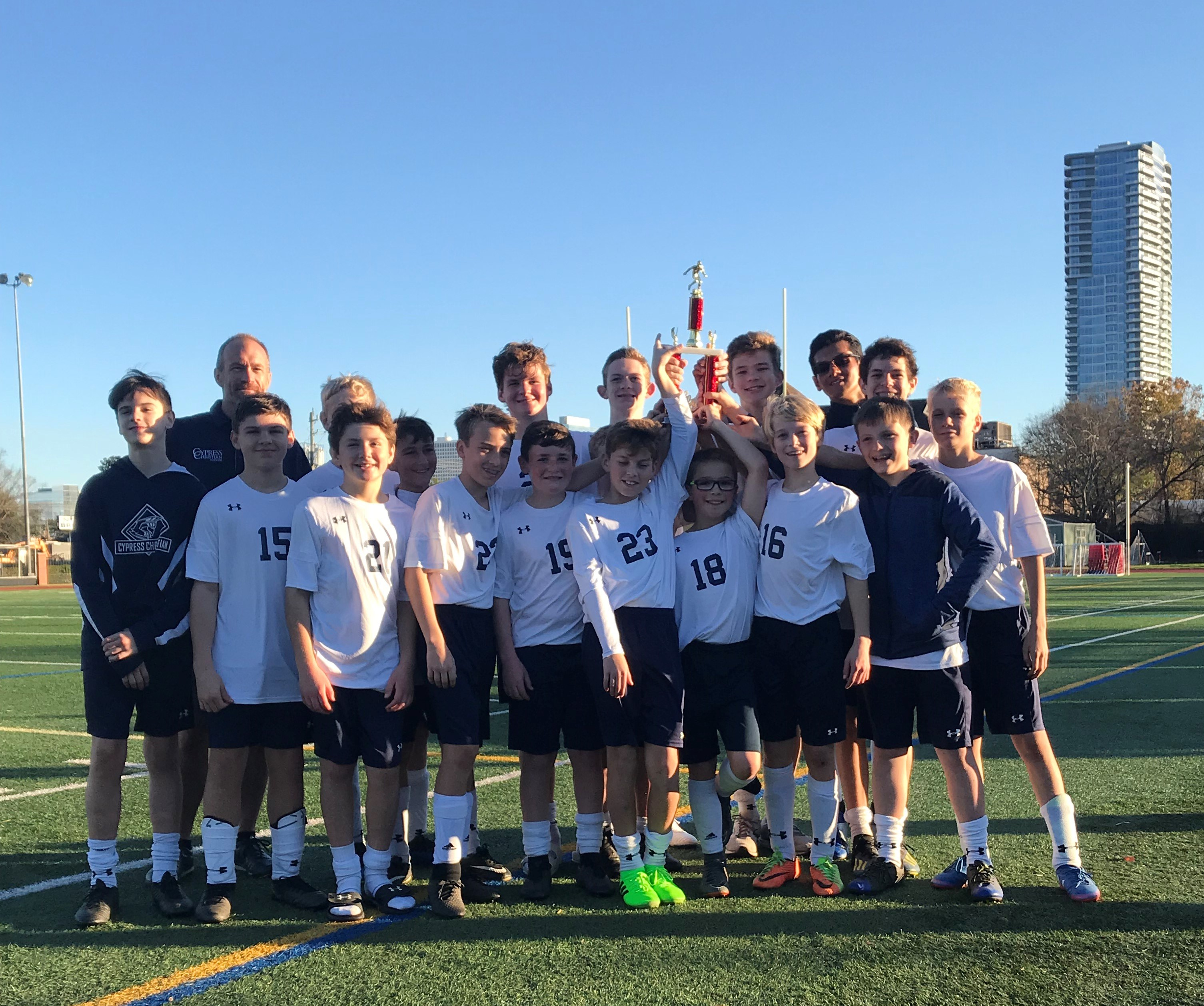 MS Boys Soccer Brings Home Trophy