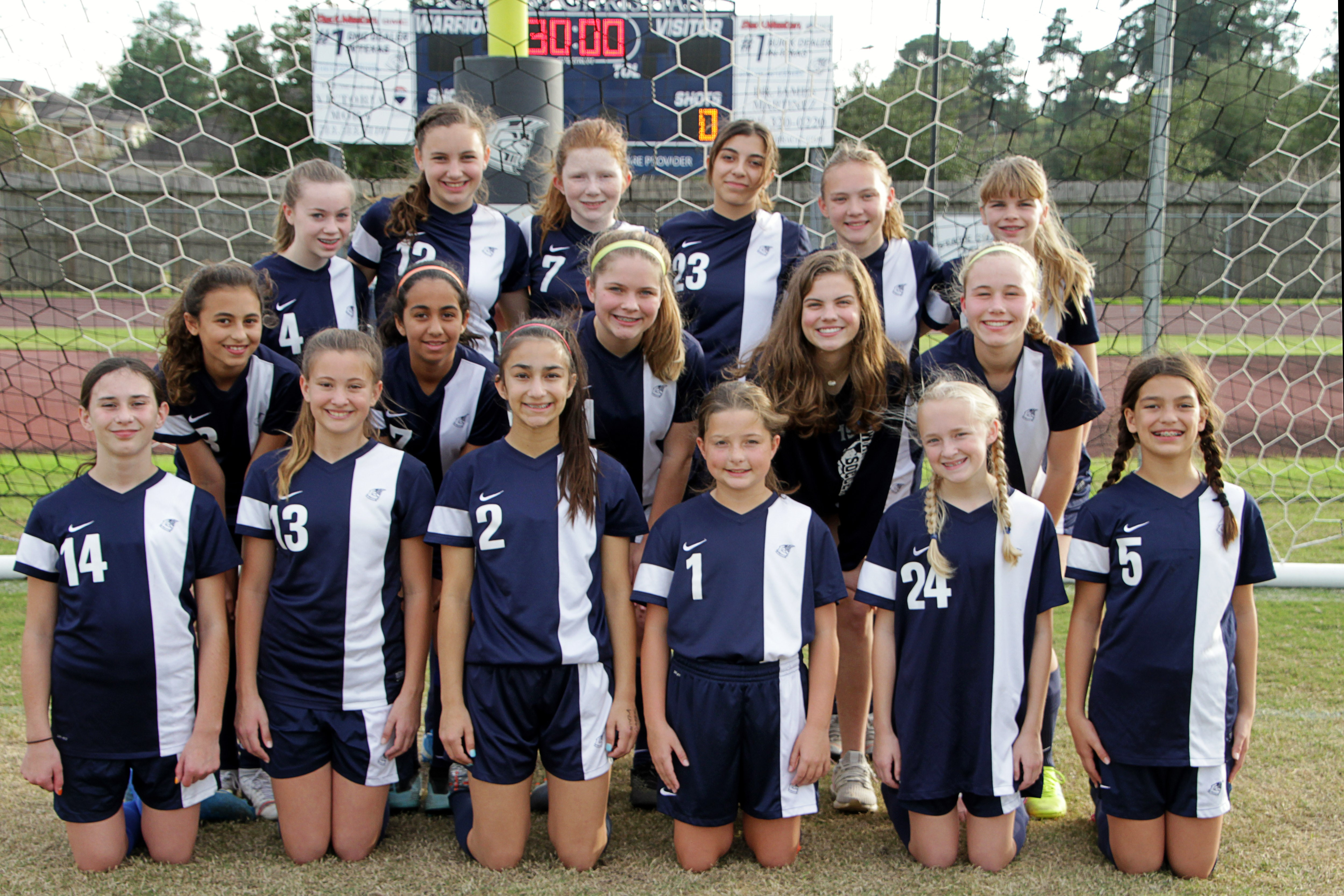 MS Girls Soccer Finishes Second in District