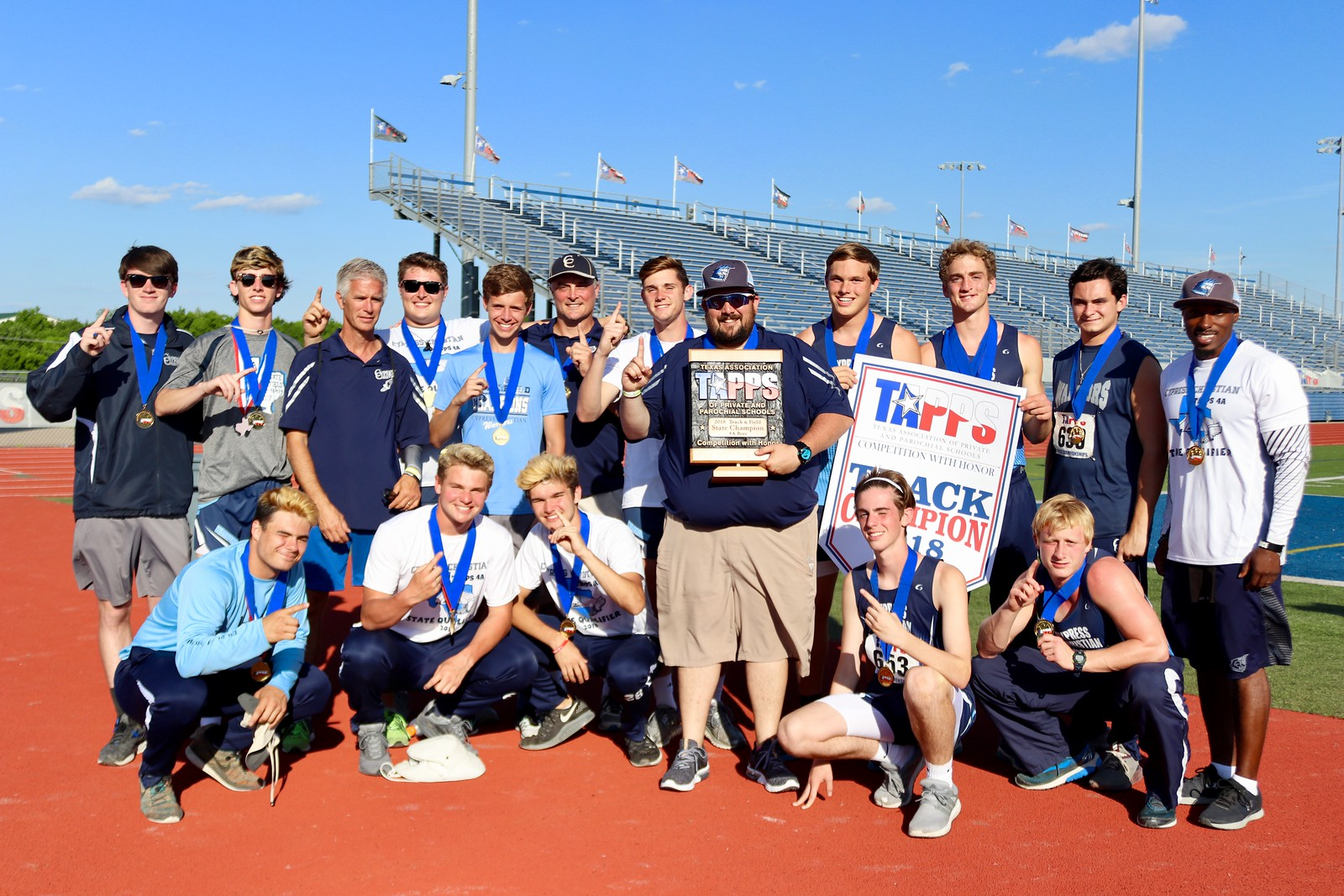 Boys Track and Field are 4A State Champions!