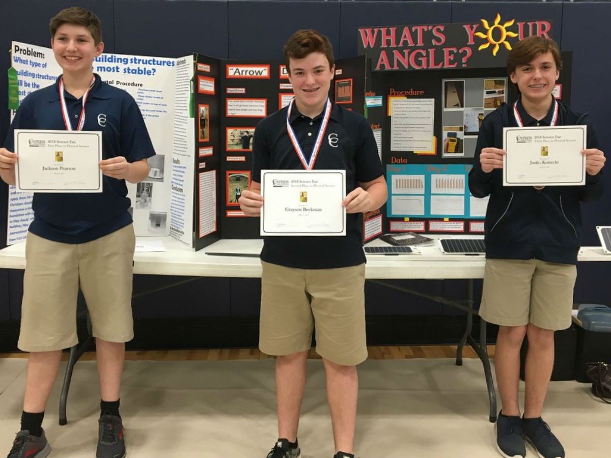 2018 Science Fair Winners