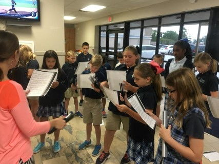 Elementary Music Students Learn to Play Handchimes