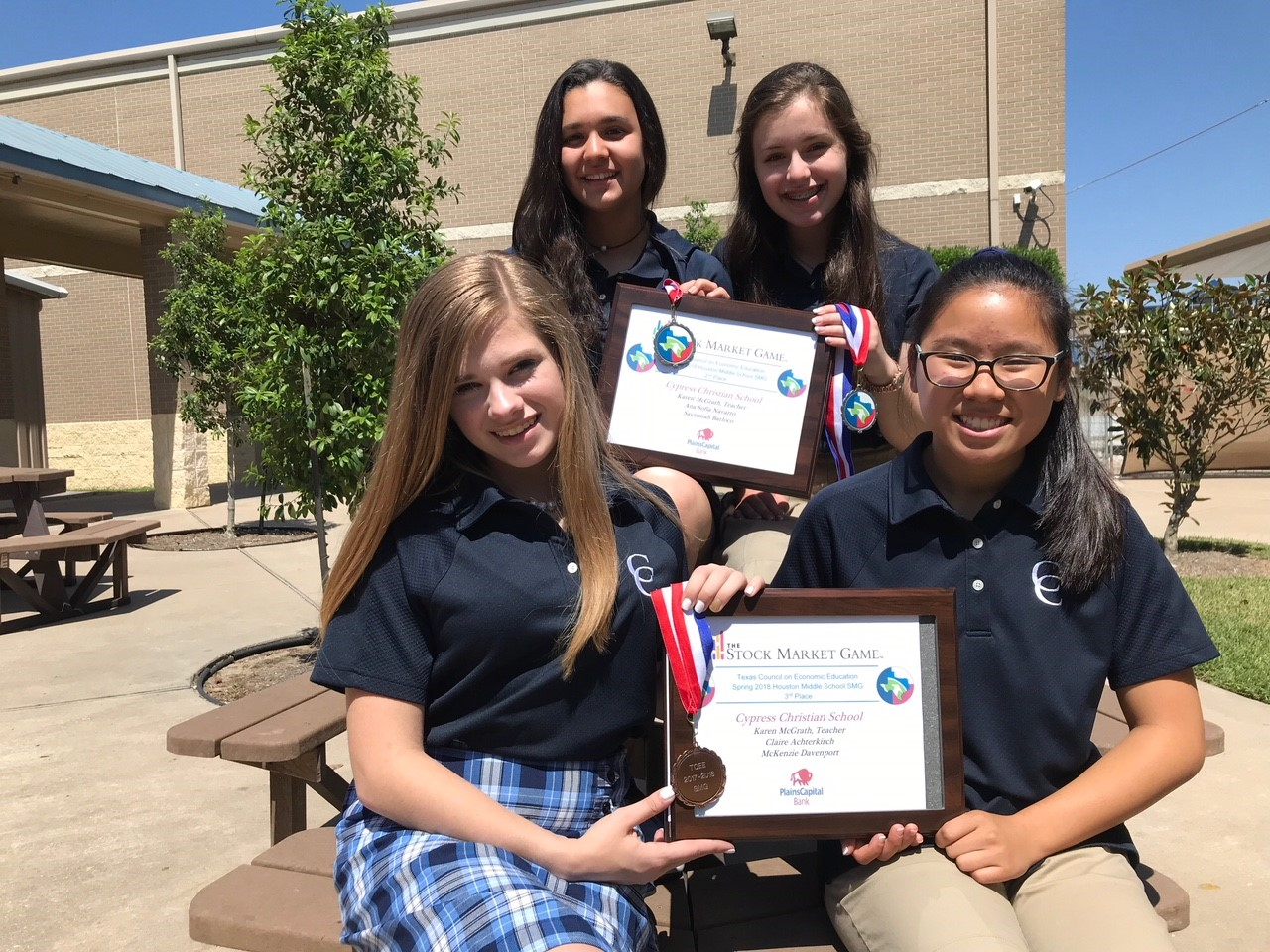 Eighth Graders Place 2nd & 3rd in The Stock Market Game