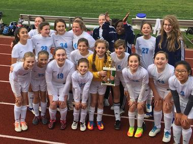MS Girls Soccer Wins 2017 District Championship