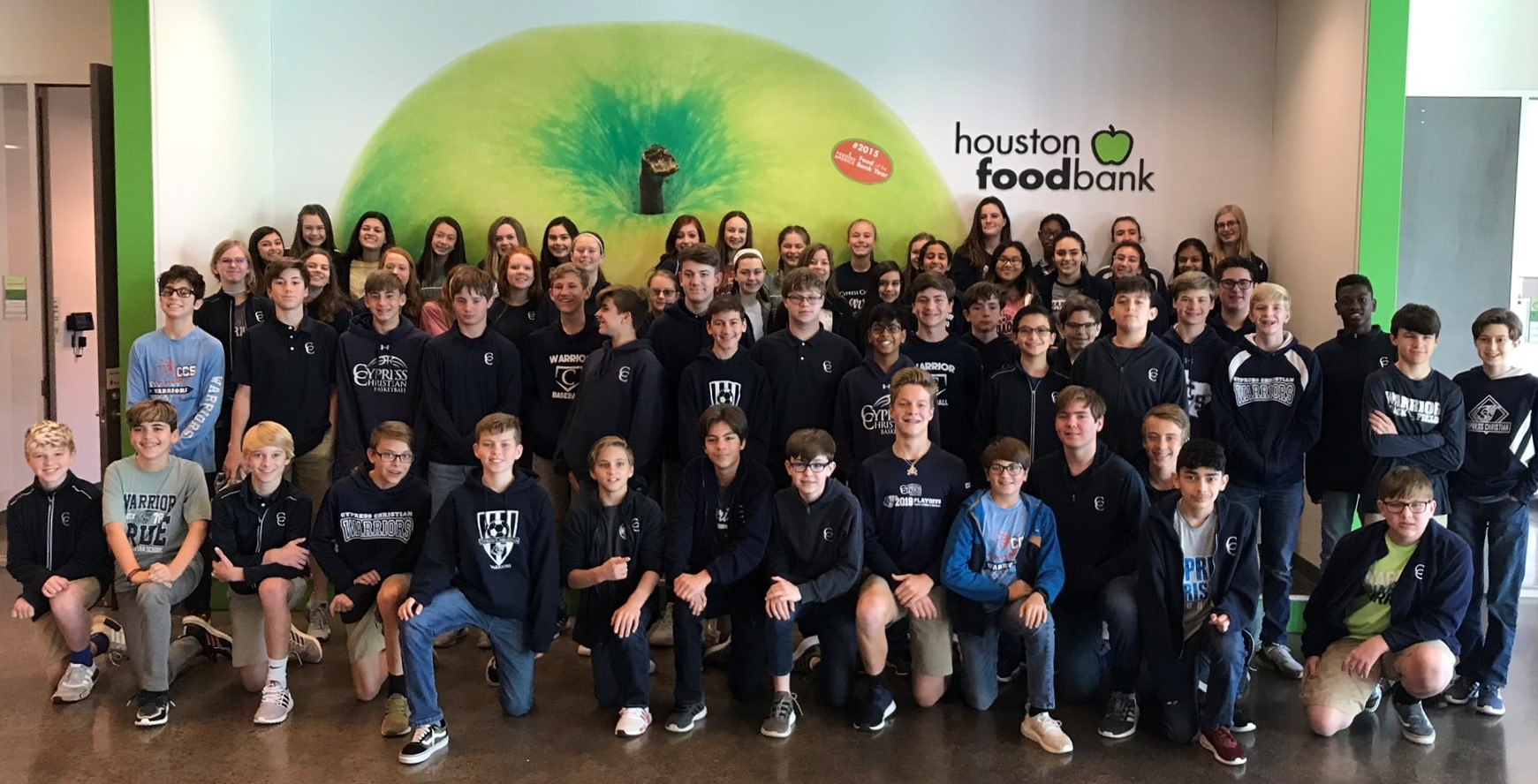 Eighth-Graders Serve at Houston Food Bank